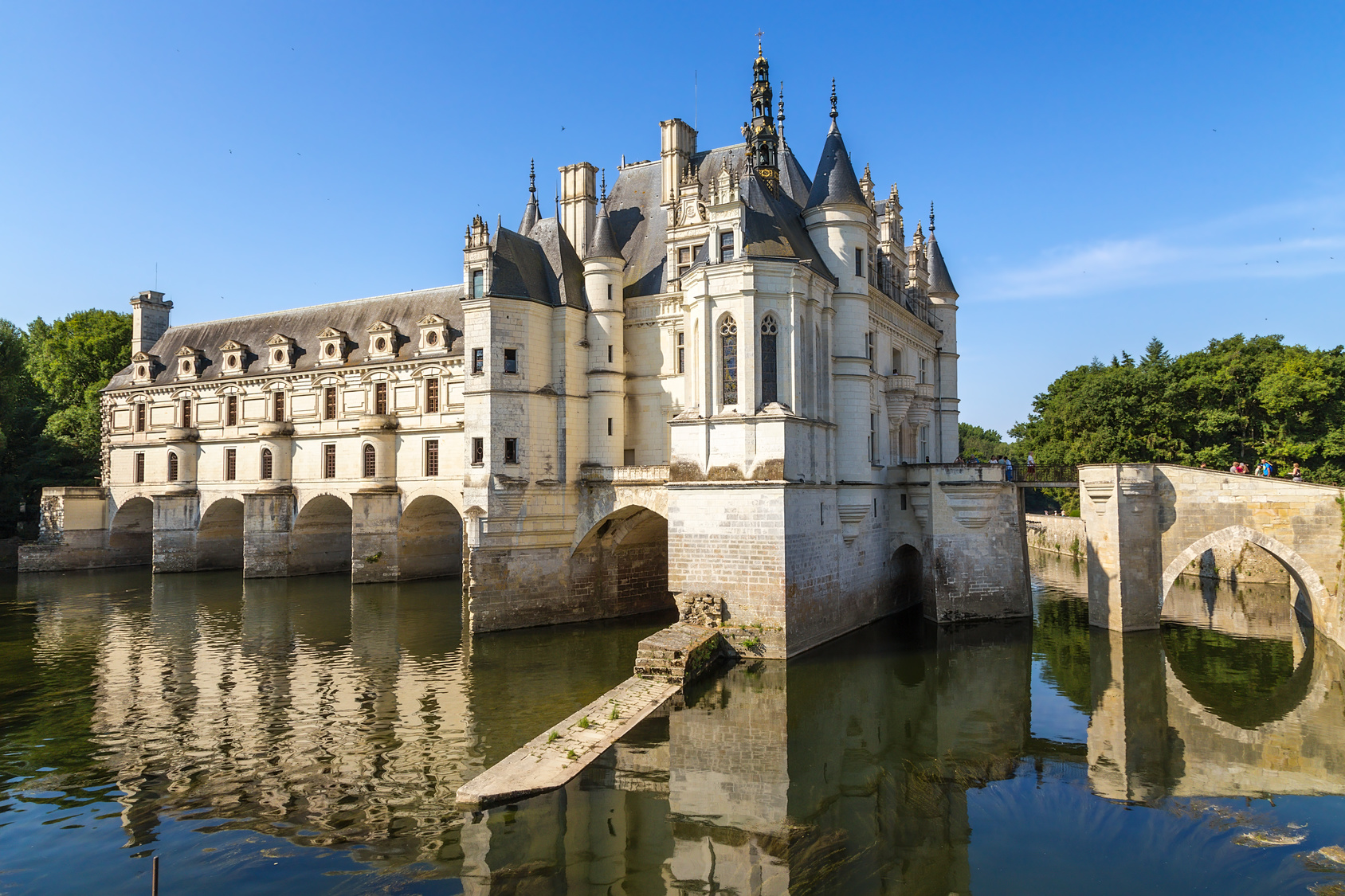 Chenonceau, France. Scenic view of the castle