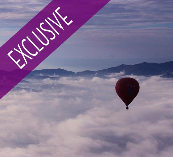 Private hot air balloon tour in Catalonia from Barcelona
