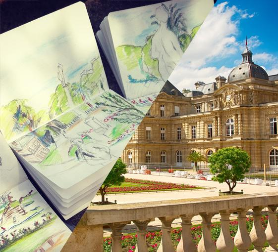 Private family art tour in the Luxembourg Garden in Paris