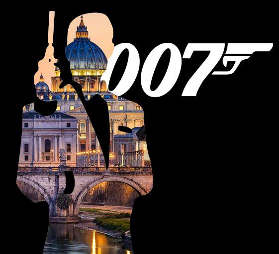 Private tour of James Bond film settings in Rome