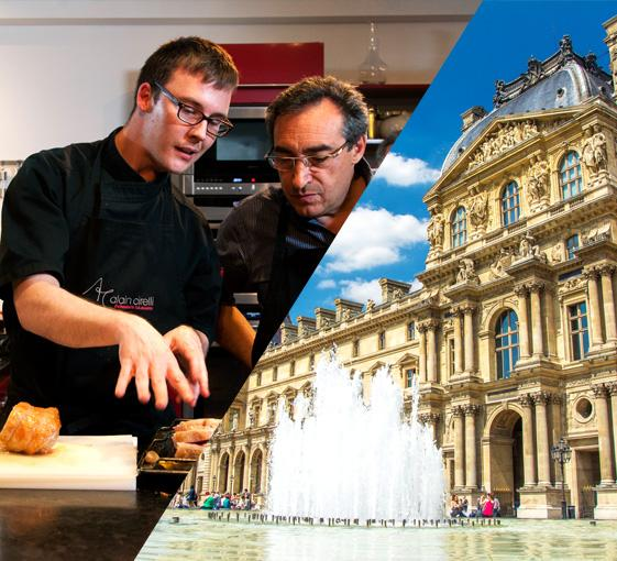 Private tour of Louvre, French gastronomy and cooking class in Paris