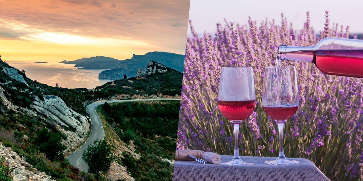 Private tour in Provence with rose wine testing from Marseille