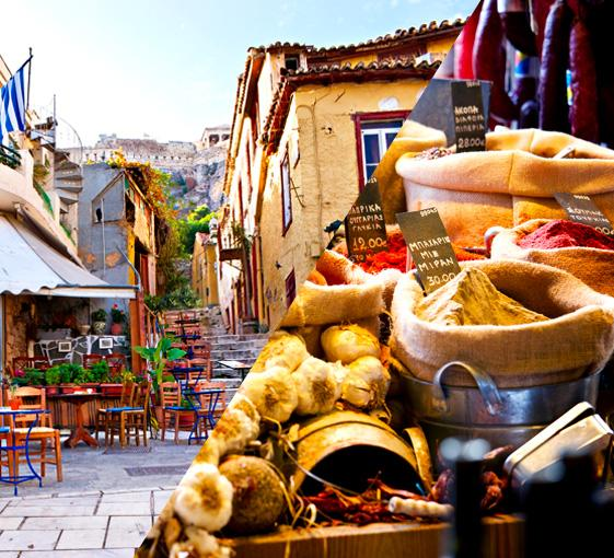 Private gastronomy and highlights stroll tour in Athens