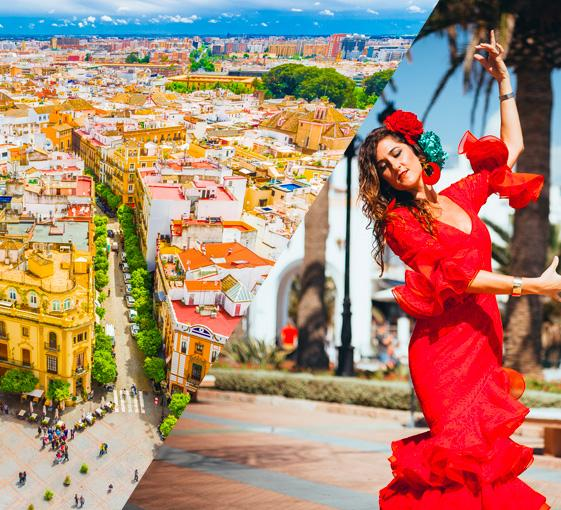 Private walking tour with flamenco show in Seville
