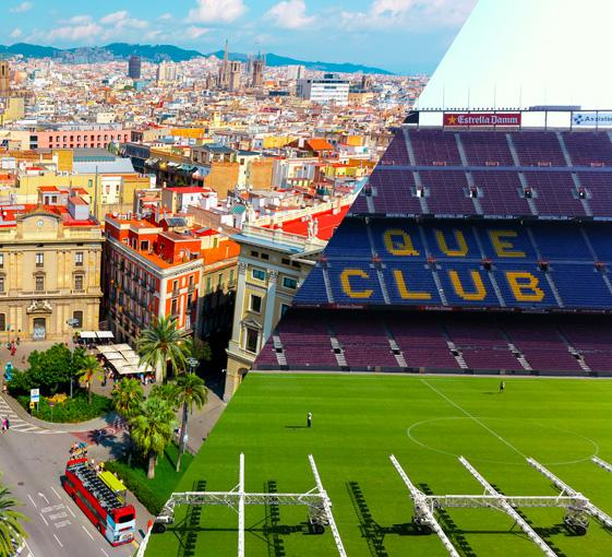 Private football supporter and panoramic tour in Barcelona