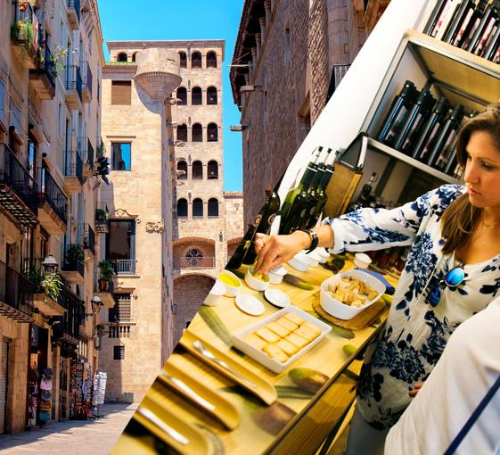 Private gastronomy and history tour in Barcelona