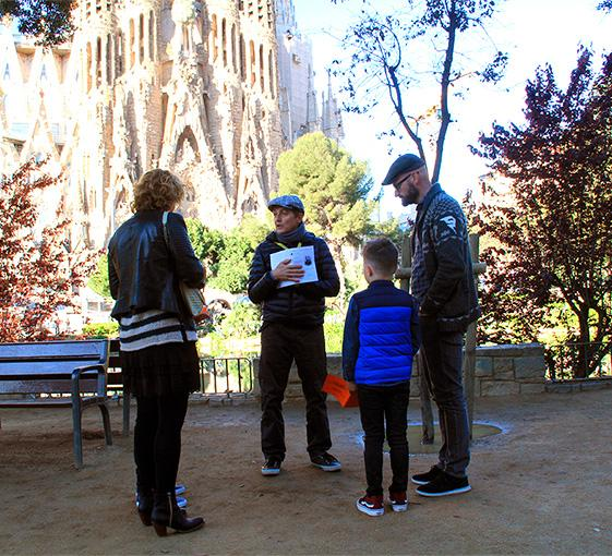 Private family  tour of Gaudi's footsteps in Barcelona